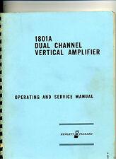 Hewlett Packard 1801A Dual Channel Vertical Amplifier Operating Manual
