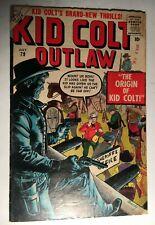 Rare 1958 Atlas/Marvel KID COLT OUTLAW Comic #79 Fine-  ORIGIN Issue - Stan Lee