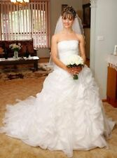 Handmade Ruffles Sleeve Wedding Dresses