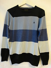 Volcom Corpo Class Collection Operation Sweater Pullover blau gestreift Größe S