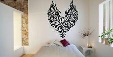 Wall Room Decor Art Vinyl Sticker Mural Decal Tribal Flame Bird Phoenix FI617
