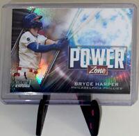 2020 Topps Stadium Club CHROME Bryce Harper Phillies Power Zone Refractor PZ-13