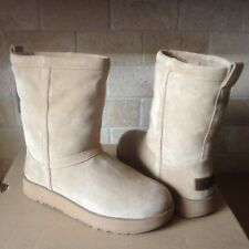 UGG Classic Short Sand Waterproof Suede Sheepskin Boots Size US 8.5 Womens NIB
