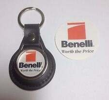Benelli Guns Shooting: Genuine Leather Key Ring & Sticker