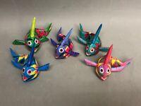 Oaxaca Alebrije Fish Wood Hand Painted Mexico Folk Art Signed Emilio R, 5 Colors