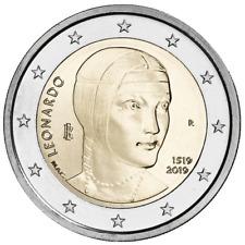 ITALIA 2 EURO 2019 - LEONARDO DA VINCI - SIN CIRCULAR -