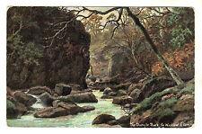 The Dargle Rock - Co Wicklow Art Postcard 1906