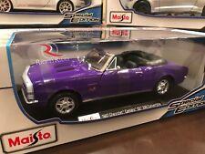 Maisto 1:18 Scale Diecast Model - 1967 Chevrolet Camaro RS/SS 396 (Purple)