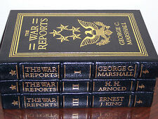 Easton Press THE OFFICIAL WORLD WAR II REPORTS General George C. Marshall 3 vols