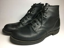 $260 Red Wing Mens 9160 Classic Round Toe Black Leather Boots Size US 8.5 D