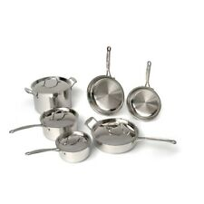 BergHOFF Earthchef Premium Copper Clad 10PC Cookware Set, Silver - 2213780A