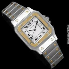 Cartier Mens Santos 2-Tone SS Steel and 18K Gold Watch - Mint with Warranty