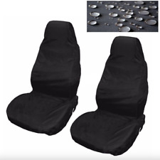 Car Seat Covers Waterproof Nylon Front 2 Protectors Black for Vauxhall All Model