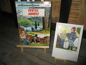 Cauvin Raoul-EO-Tuniques Bleues-Vertes années+ Ex Libris grand format signé-1992