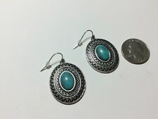 Premier Designs Turquoise Color oval earrings