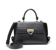NWT $2,250+ Salvatore Ferragamo SOFIA Black Leather Satchel Shoulder Bag Purse