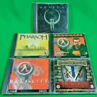 PC Game Lot of 5 Games! Quake 2, Half-Life, Pharaoh & Forgotten Realms Archives