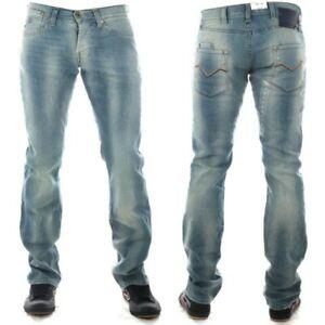 jeans energie da uomo elasticizzati a zampa svasati bootcut vita bassa chiari 32