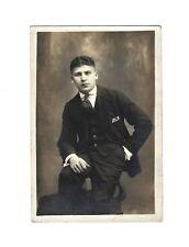 OLD VINTAGE PHOTO HANDSOME YOUNG ITALIAN MAN GENTLEMAN TEEN BOY IN FANCY ATTIRE