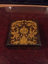 Stunning Art Nouveau Late Victorian Pyrograph Decorated Storage Box
