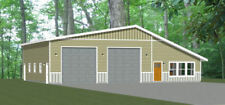 56x48 2 RV Garage - 2 Bedr 1 Bath - 2,649 sq ft - PDF Floor Plan - Model 2B