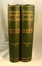PERSONAL MEMOIRS OF U.S.GRANT 1885-86 1st Edition in Two Vol. Civil War Military