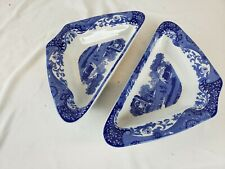 Great Spode pair of Italian trays / serving dishes