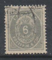 Iceland - 1876/95, 6a Grey or Greenish Grey stamp - F/U - SG 15a/b (b)
