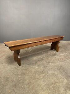 Small Oak Chapel Bench c1900