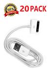 20X 30 pin USB Charging Data/Sync Cable Cord for Apple iPad 1/2/3 iPod Nano 1-6