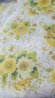 Edgemont Flat Sheet Vintage Muslin Fabric Project Crafts Fabric 94x82 Floral
