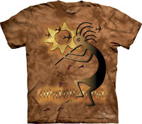 WOMEN'S T-SHIRT FERTILITY GLYPH STONEWASHED MULTICOLORED GRAPHIC TEE SIZE SMALL