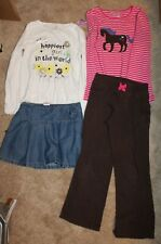 4-Piece Lot * Girls' Sz 6X Long-Sleeved Outfits w/ skirt & pants - Euc