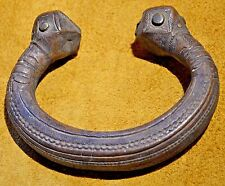 Antique African Songhai Tribe Copper Metal Manila Bracelet Currency Niger Africa