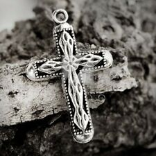 25pcs Lots Pendant Charm Metal Tibetan Silver Cross 31x20x3mm BB IW