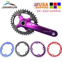 US DECKAS 32-52T 104bcd Narrow Wide Aluminum Crankset MTB Bike Crank Chainring