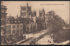 Avon & Somerset Postcard - Bristol Cathedral and Queen's Statue  MB296