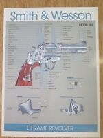 SMITH & WESSON MODEL 586 L FRAME REVOLVER POSTER. NEW! GREAT FOR BAR / MANCAVE.