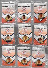2004 BOSTON RED SOX BASEBALL 9 PIN LOT~ DAVID ORTIZ PEDRO MARTINEZ RAMIREZ DAMON