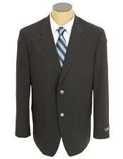 Gianco Polo Mens Solid Black Wool Sport Coat Blazer With Center Vents.