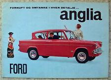 FORD ANGLIA Car Sales Brochure March 1965 DANISH TEXT #2199/25M/365