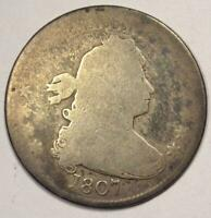 1807 Draped Bust Quarter 25C - Rare Early Date Coin!