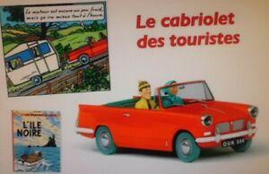 CABRIOLET DES TOURISTES DANS TINTIN ET L'ÎLE NOIRE  (1/24 éme)-(LIVRET INCLUS)