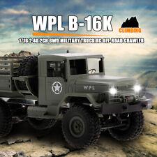 WPL B16K 1/16 Military Truck RC Auto Off-Road 6WD Crawler Licht Motor Servo G1V3