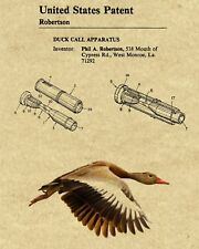 Duck Commander Duck Call Patent Art Print & Mallard Duck Pic  - Choice of 4 BG's