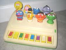 Vintage Lewco Sesame Street Piano Toy USED Big Bird Count Oscar Bert 1980s