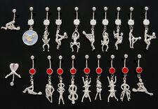 B#45 -10pc Kama Sutra Dangle Mix 14g Belly Rings Navel naval 316L Surgical Steel