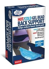 Gel Bead Lower Back Support Hot Cold Pain Swelling Relax Muscles Regular Wrap