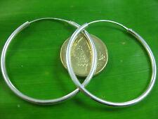 """100/% REAL 925 sterling silver /""""16mm to 65mm/"""" TWIST hoops earrings GIRL WOMEN"""