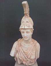 Athena Goddess of  Wisdom and Strategy sculpture statue bust artifact